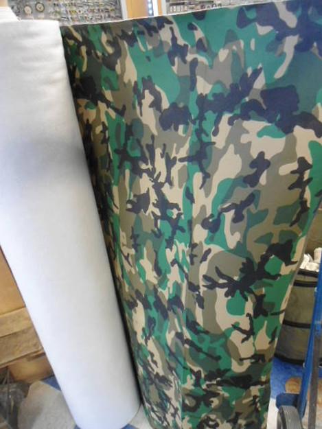 Woodland Camouflage Vinyl Fabric