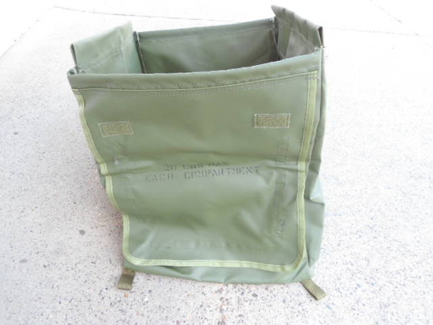 U.S. Military OD Vinyl Collapsible Box/Bin