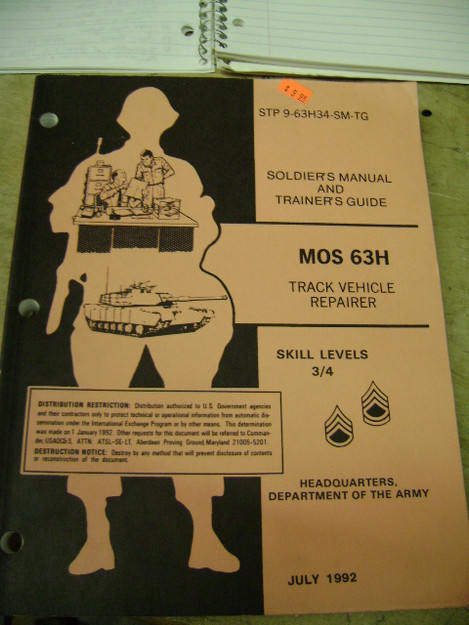 MOS 63H, Track Vehicle Repairer Skill Levels 3-4