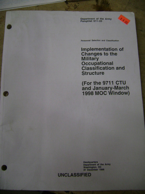 Implementation of Changes to the Military... 611-23 (1995)