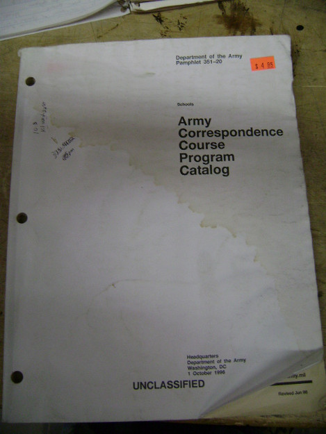 Army Correspondence Course Program Catalog