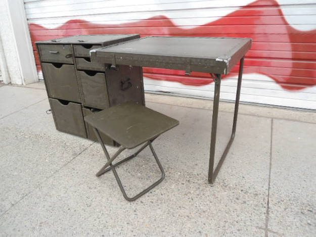 New U.S. Military Wood Field Desk