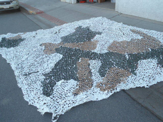 diamond shape 28/'x16/' US Military Snow Camouflage Radar Scattering Net//Screen