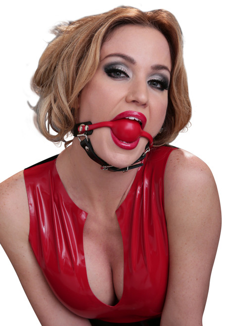Ball Gag with Chin Strap
