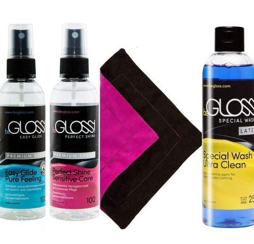 BeGloss Perfect Shine Spray 100ml Easy Glide Spray 100ml Special Wash 250ml and Wipe