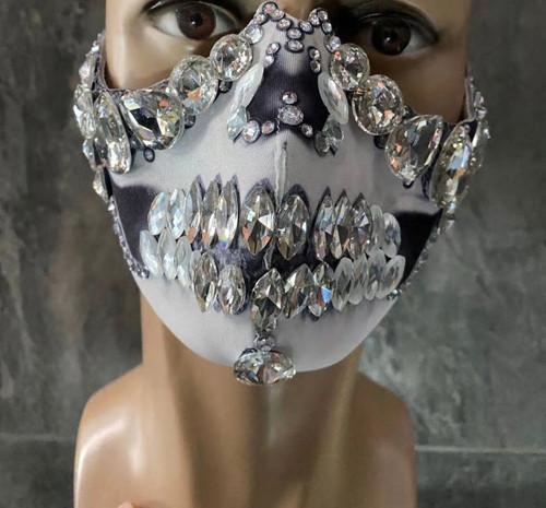 Skull Face Gem Mask