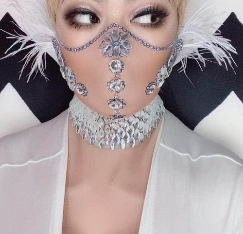Feather and Gem Mask