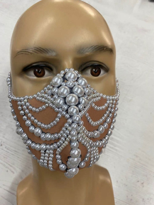 Jeweled Pearl Design Mask
