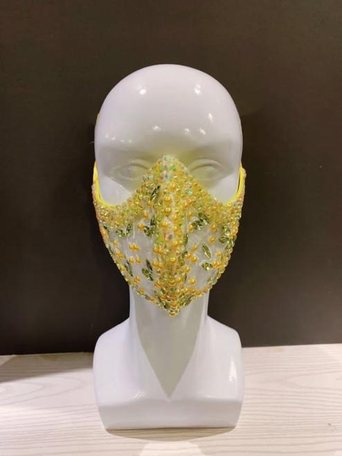 Jeweled Pearl Design Mask3