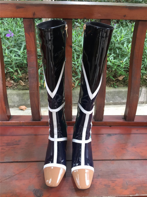 Color Block Fitted Boots