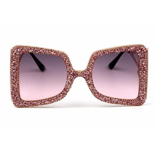 Square Rhinestone Sunglasses