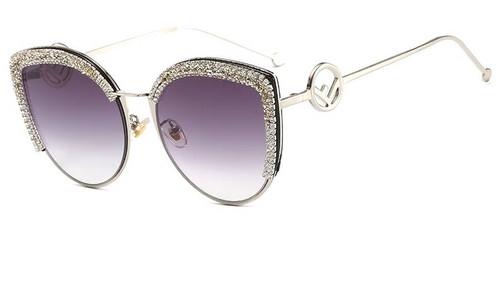 Rhinestone Cat Sunglasses