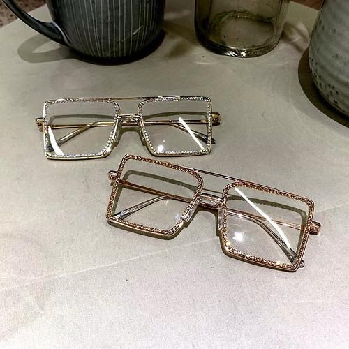 Clear Rhinestone Sunglasses