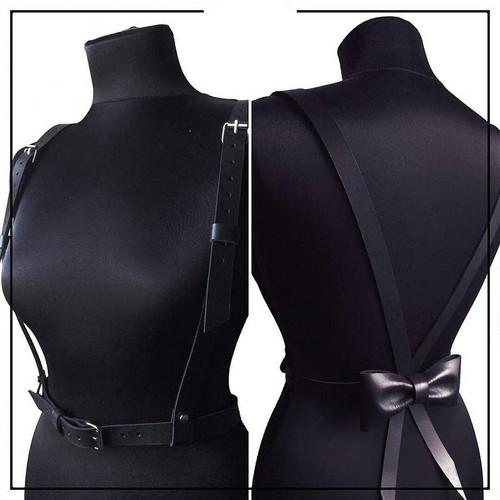 Suspender Belt with Back Bow