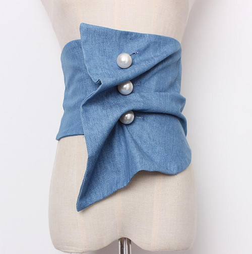 Blue Jean Corset Belt