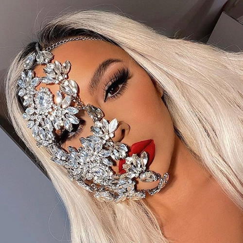 Crystal Half Face Mask