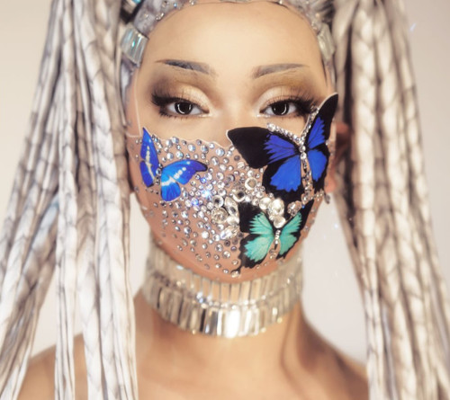 Butterfly Crystal Face Mask