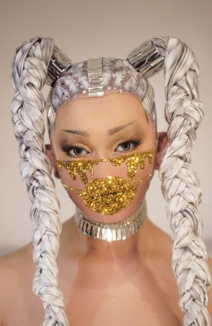 Teary Crystal Face Mask