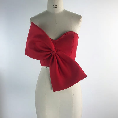 Oversized Bow Strapless Top