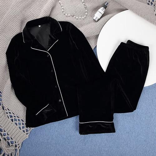 Black Velvet Lounge Wear