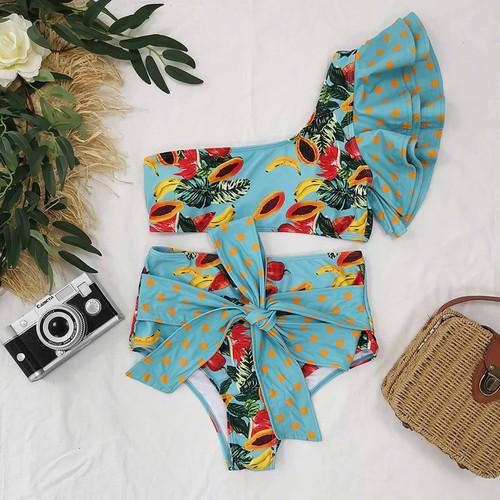Fig Print Bikini Swim Suit