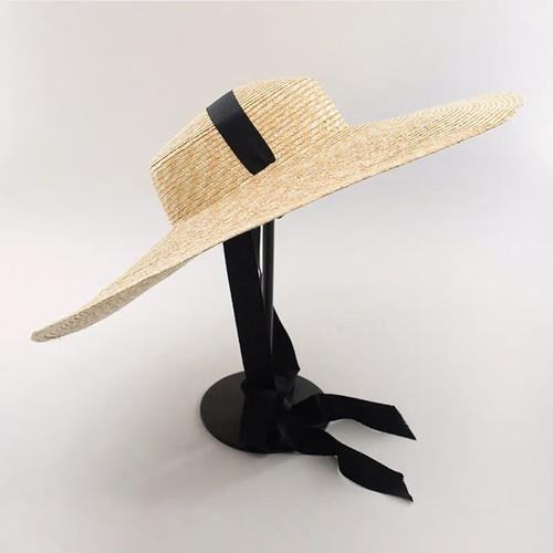 Wide Brim Ribbon Straw Beach Hat