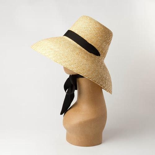 Lamp Shade Bucket Ribbon Hat
