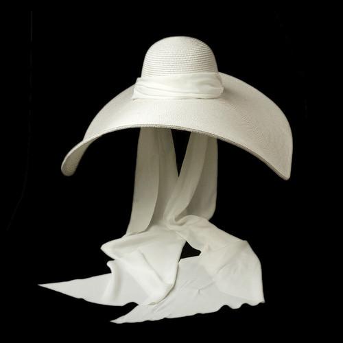 Wide Brim  Silk Ribbon Derby Hat