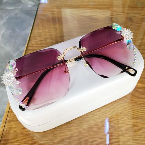 Square Rhinestone Sun glasses