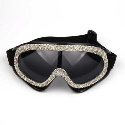Unisex Rhinestone Goggles