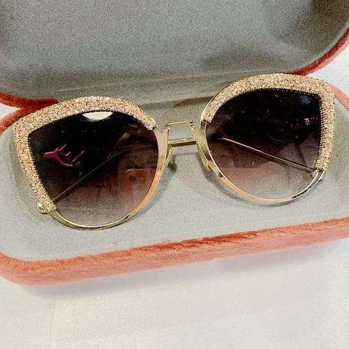 Gradient Rhinestone Sunglasses