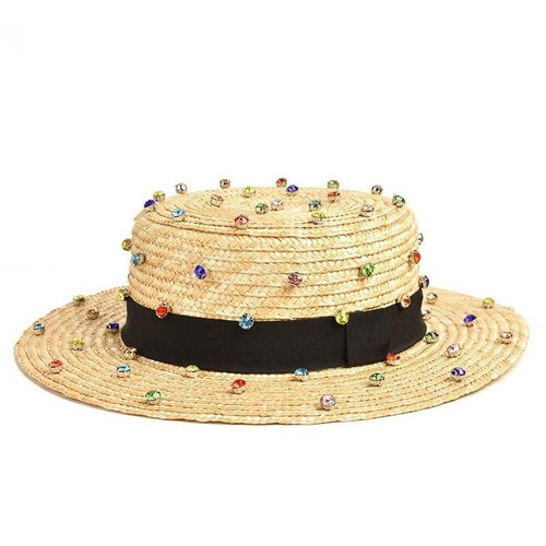 Colorful Jewels Straw Hat