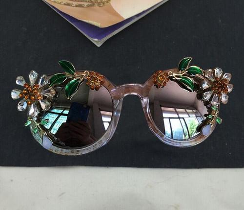 Sunflower Rhinestone  Cat Sunglasses