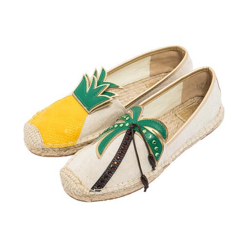 Linen Tropical  Espadrille Shoes