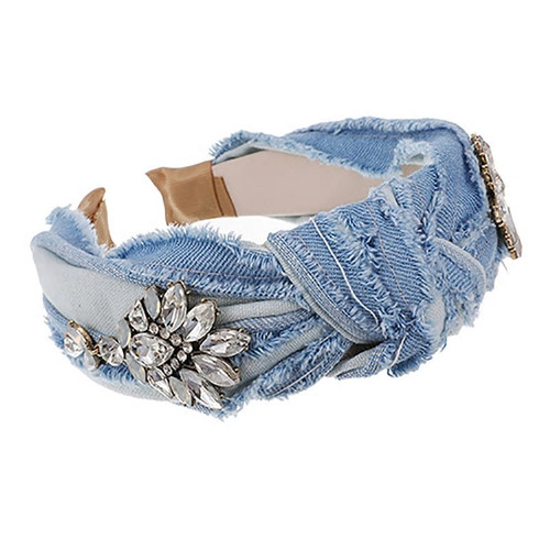 Blue jean Crystal Headband