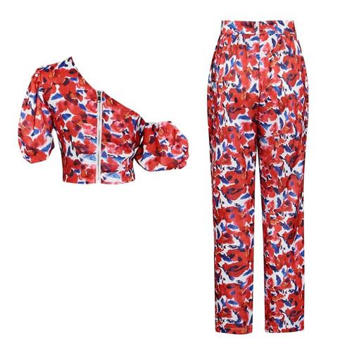 Floral Print Pants Set
