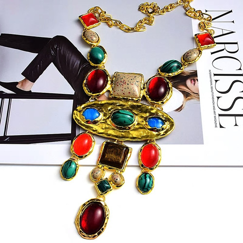 Tribal Style Colorful Necklace