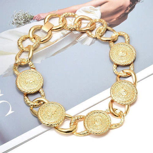 Coin Link Chain Necklace