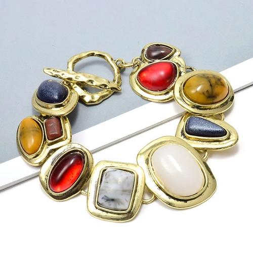 Multi Gem Link Bracelet