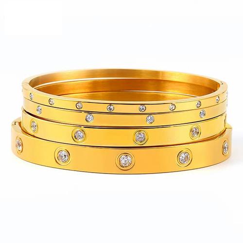 Titanuim Steel CZ Bracelet