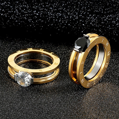 Stainless Steel Interchangeable Lovers Ring