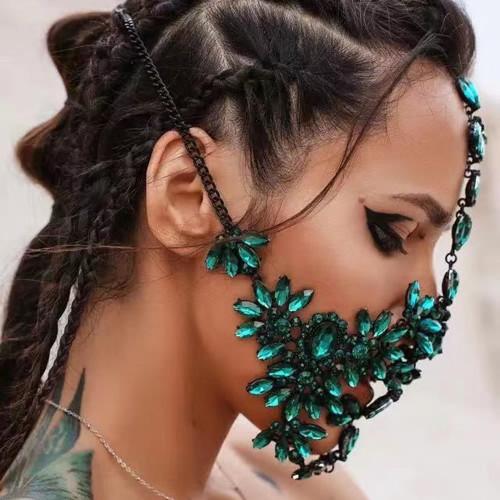 Emerald Crystal Full Face Mask
