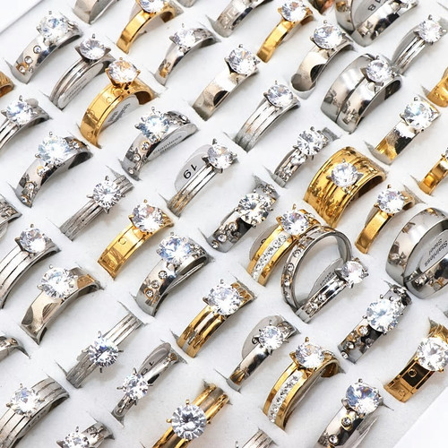50 Piece Wholesale Womens Engagement Rings
