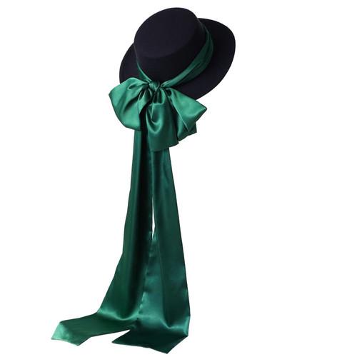 Vintage Ribbon Wool Hat
