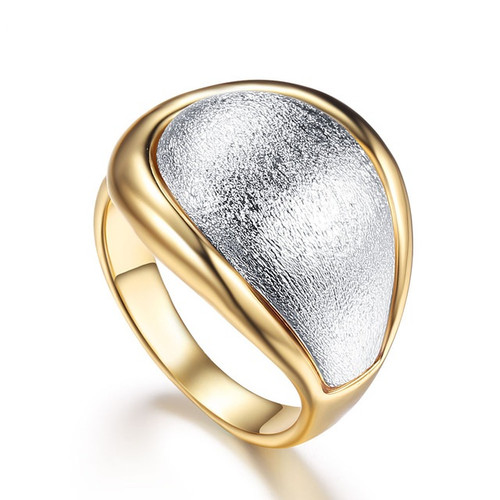 Double Tone Cocktail Ring