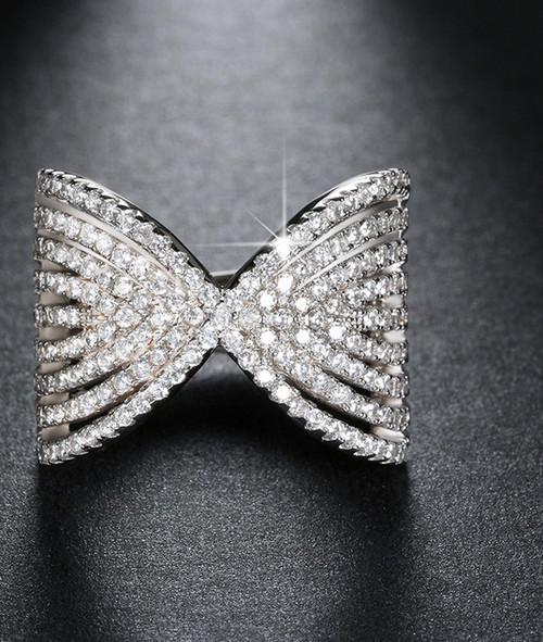Austrian Crystal Bow Ring