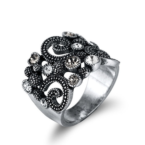 Vintage Style Retro Cocktail Ring
