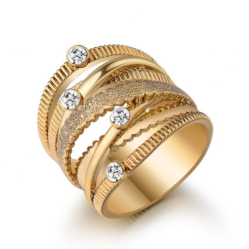 Wide Gold Multi Layer Ring