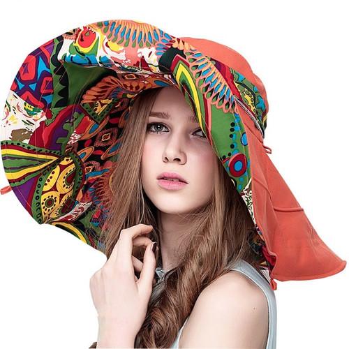 Shapeable Packable Wide Brim Beach Sun Hat