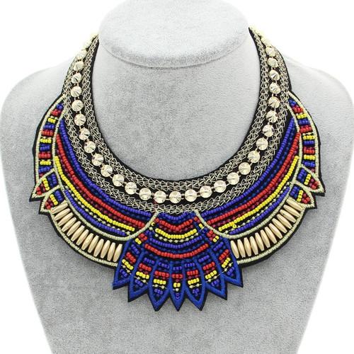Ethnic Tribal Style Bib Necklace